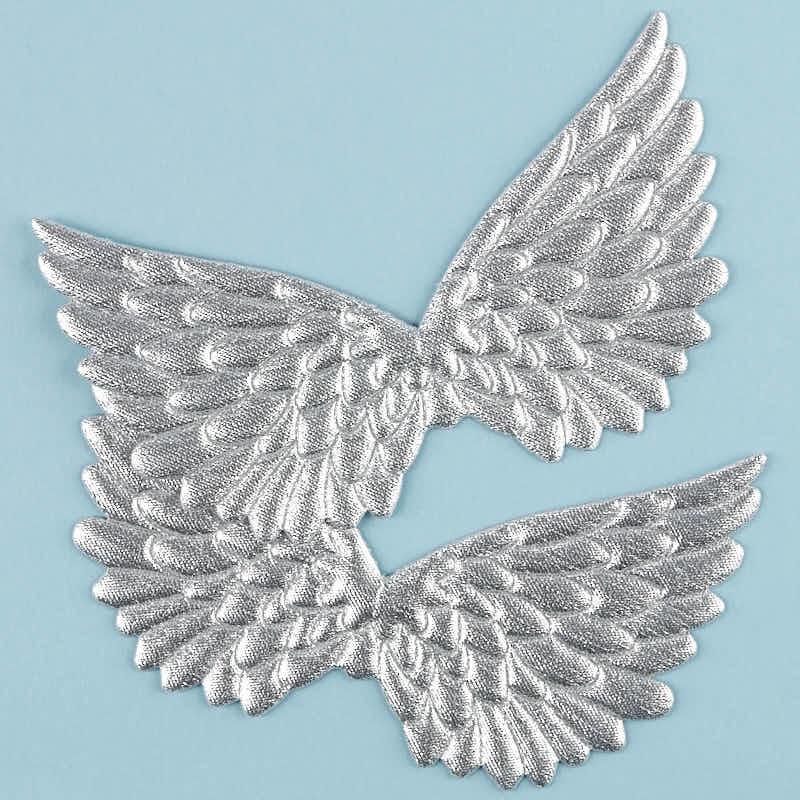 Embossed Silver Angel Wings - Angel Wings - Doll Making Supplies ...
