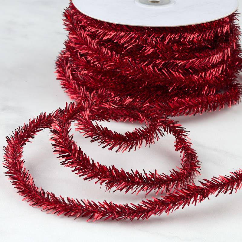 Dark red rope tinsel garland craft supplies sale sales