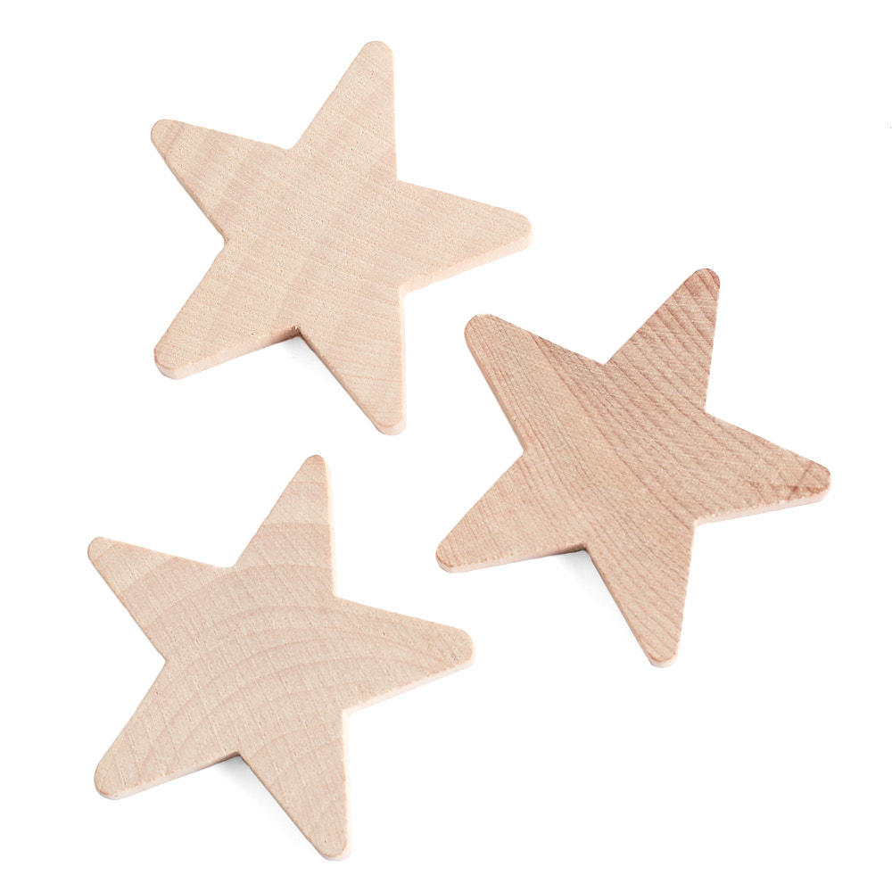 Unfinished wood star cutouts wood stars unfinished for Wood craft supply stores