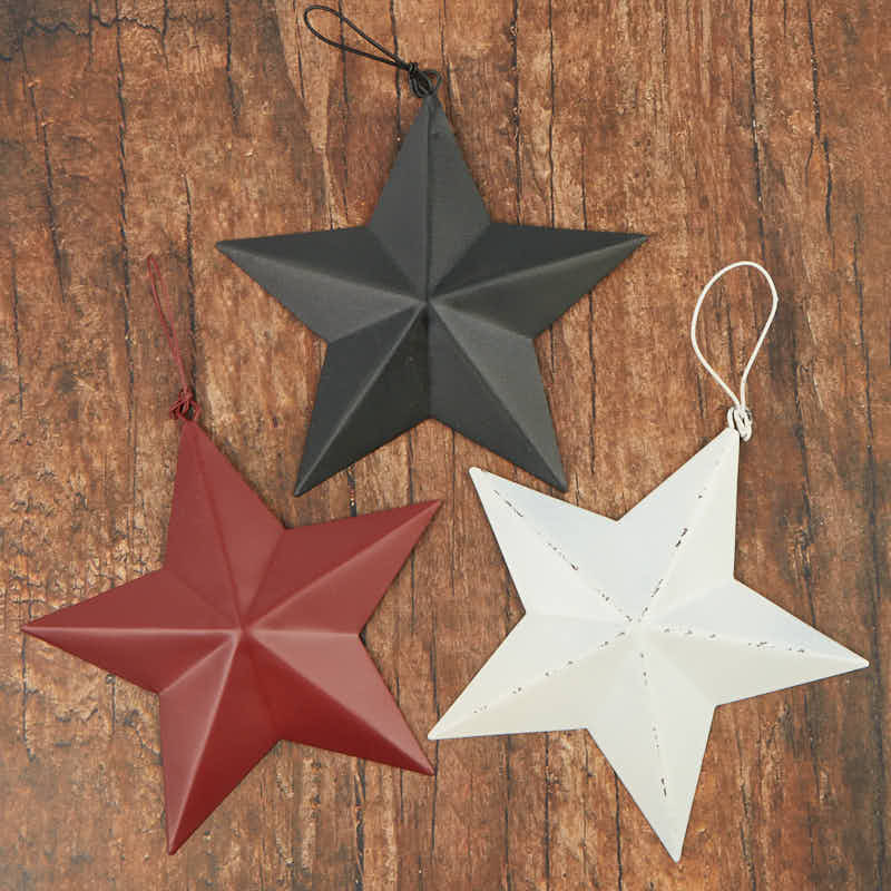 Primitive dimensional barn star set what 39 s new home decor for Barn star decorations home