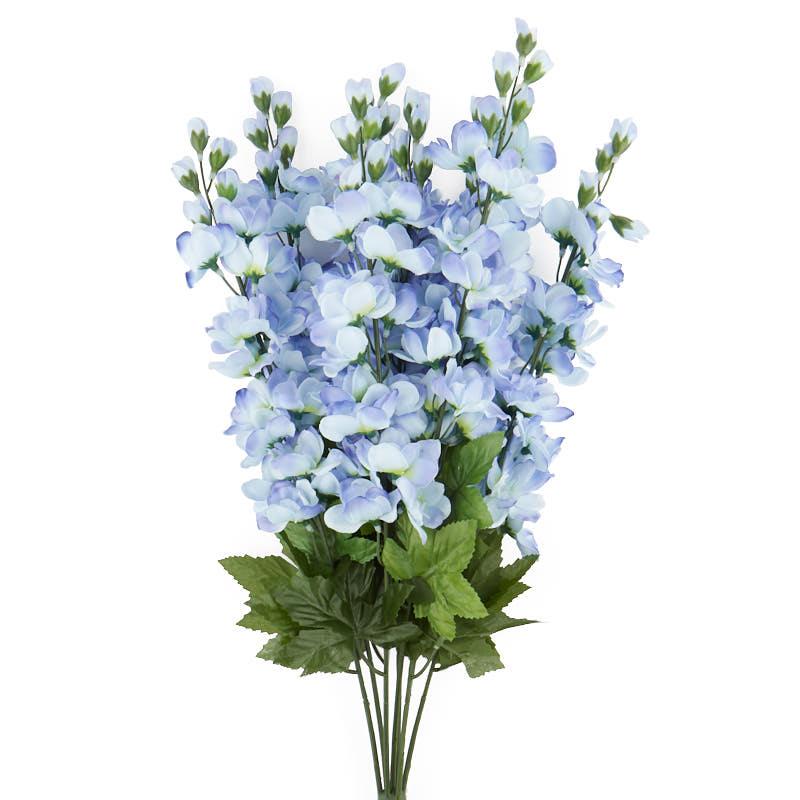 New Blue and Cream Artificial Delphinium Bush - Bushes and Bouquets  DZ85