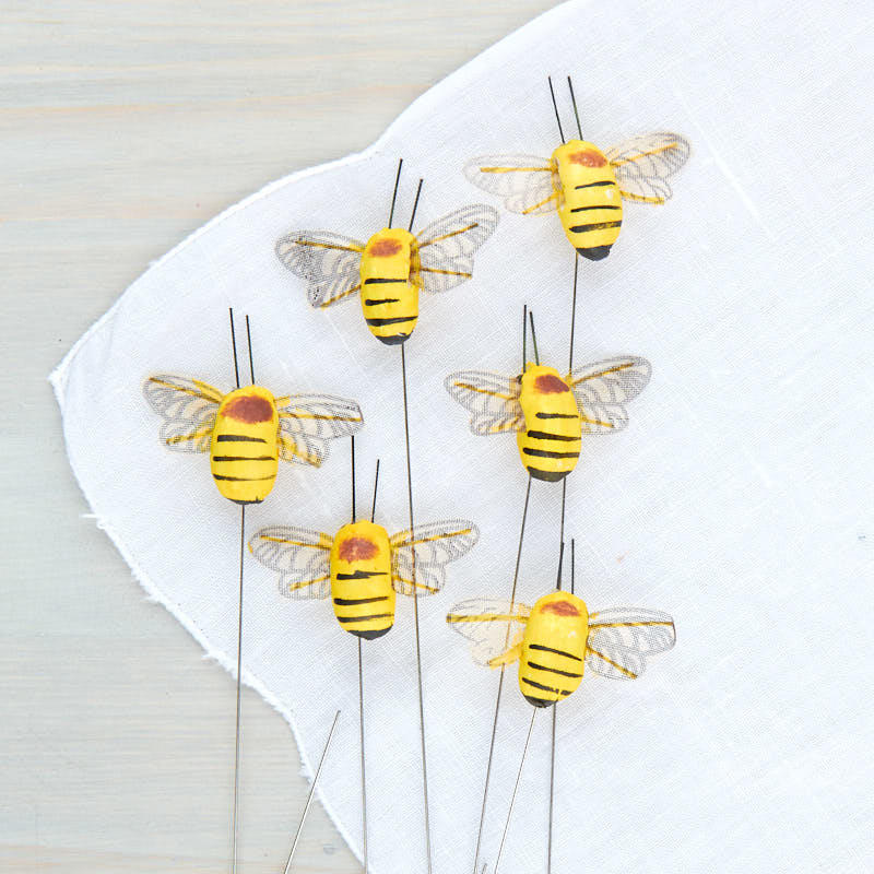 Mushroom bumble bees artificial birds and nests floral for Artificial bees for decoration