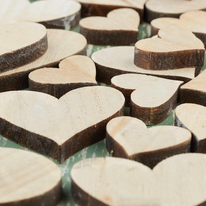 Natural Wood Heart Cutouts