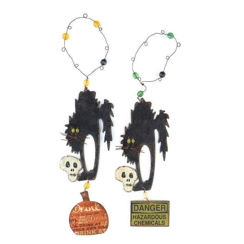 Aged Halloween Black Cat OrnamentNew Items
