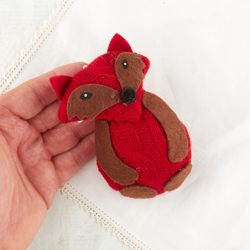 Knitted Plush Fox OrnamentNew Items