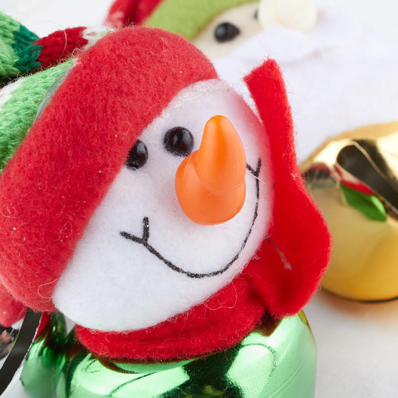 Felt jingle bell buddy christmas ornament