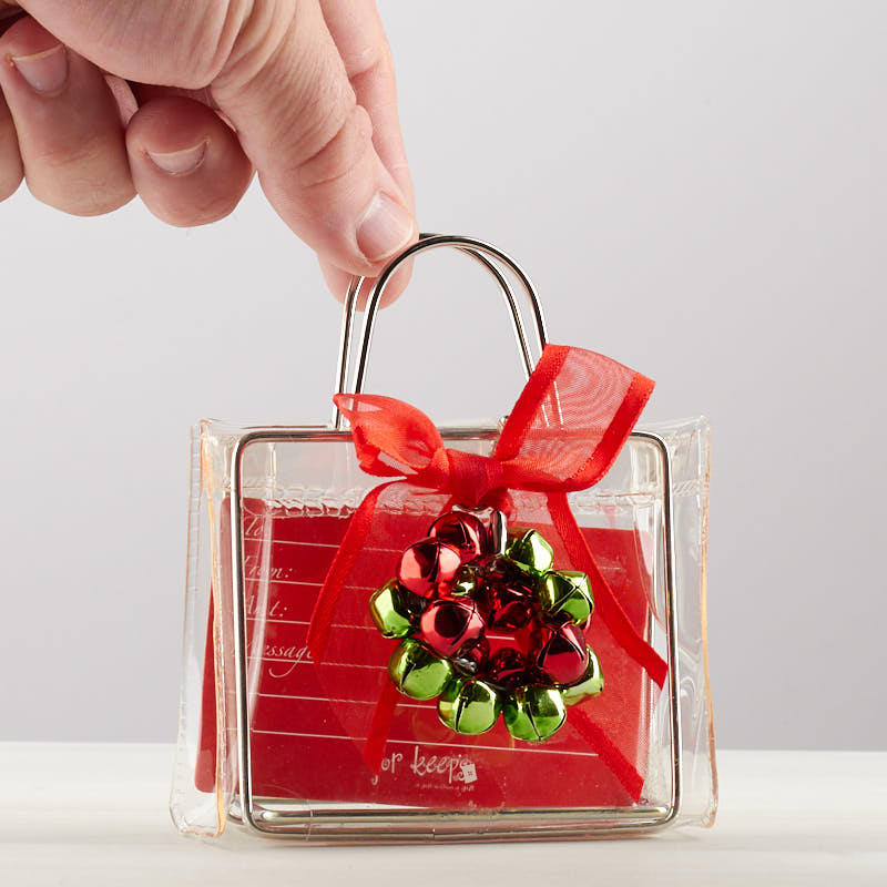 Clear Choice Reviews >> Clear Holiday Gift Card Holder with Jingle Bells - Gift ...