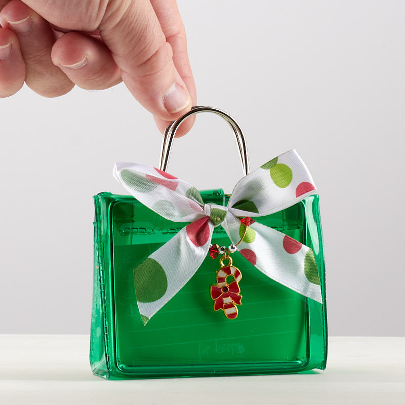 Wedding Gift Ornaments : Green Gift Card Holder with Candy Cane OrnamentNew Items