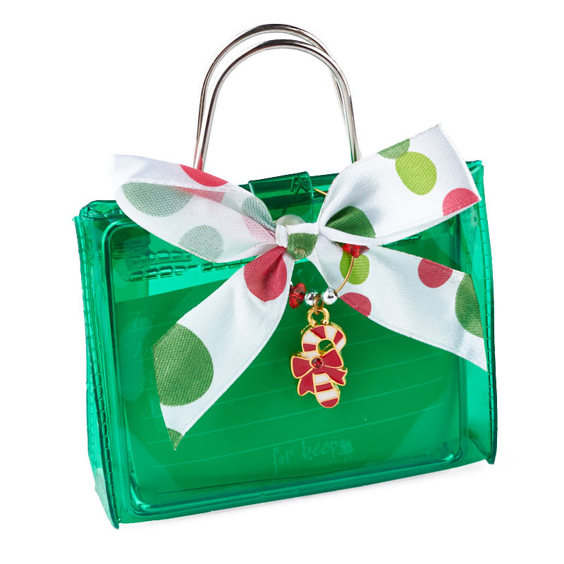 green gift card holder with candy cane ornament - bags - basic craft supplies
