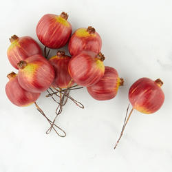 Artificial pomegranate picks on sale home decor for Artificial pomegranate decoration