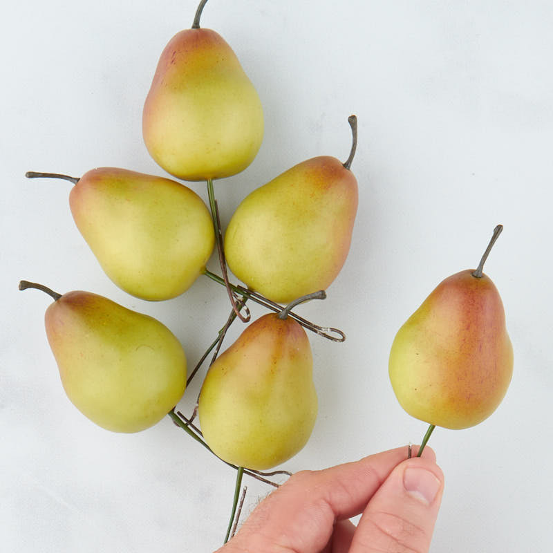 Green artificial pear picks on sale home decor for Artificial pears decoration