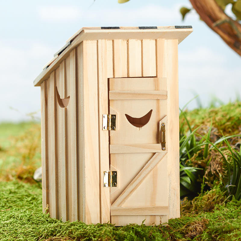 Swell Miniature Unfinished Wood Outhouse Download Free Architecture Designs Itiscsunscenecom