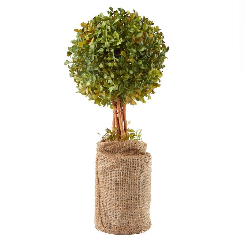 Sale Home Decor: Artificial Boxwood Topiary