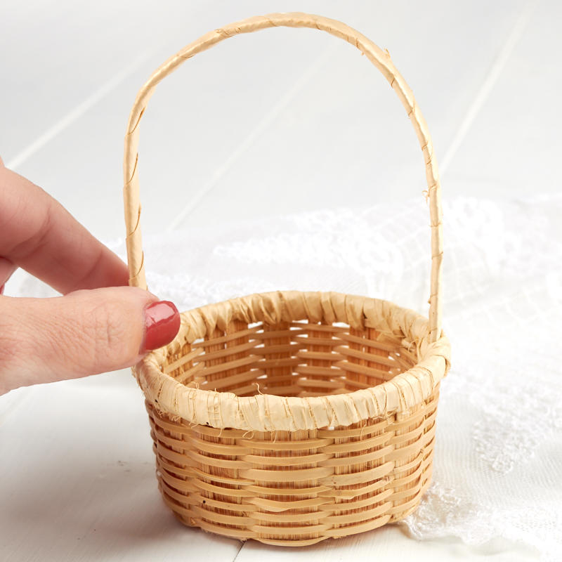 Materials For Basket Making : Mini woven basket kitchen miniatures dollhouse