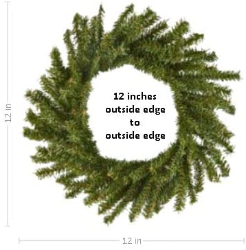 """Christmas Ornaments For Sale Canada: 12"""" Artificial Canadian Pine Wreath"""