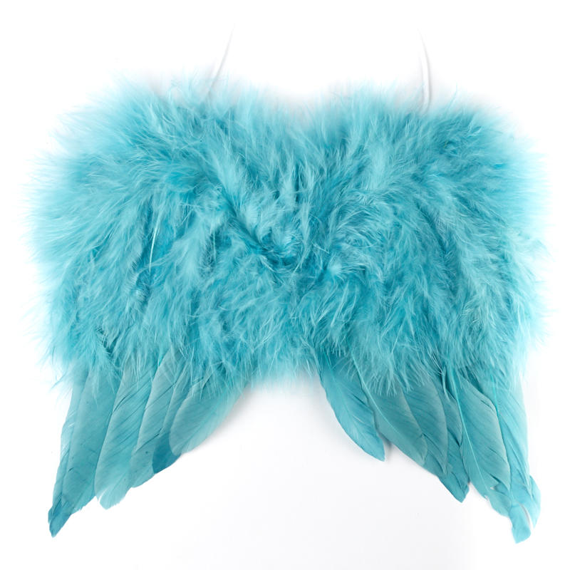 Teal Feather Angel Wings - Angel Wings - Doll Making Supplies ...