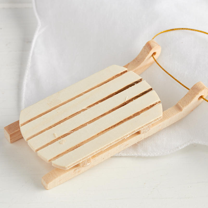 Unfinished wood vintage sled ornament wood cutouts for Wooden craft supplies online