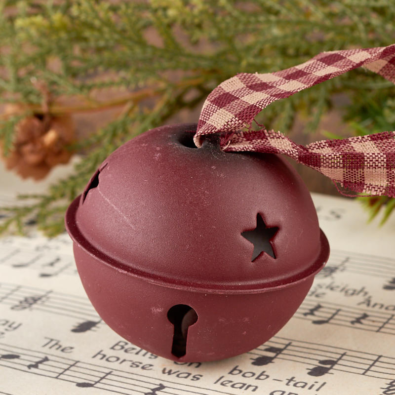 Primitive Red Jingle Bell Ornament - Christmas and Holiday ...