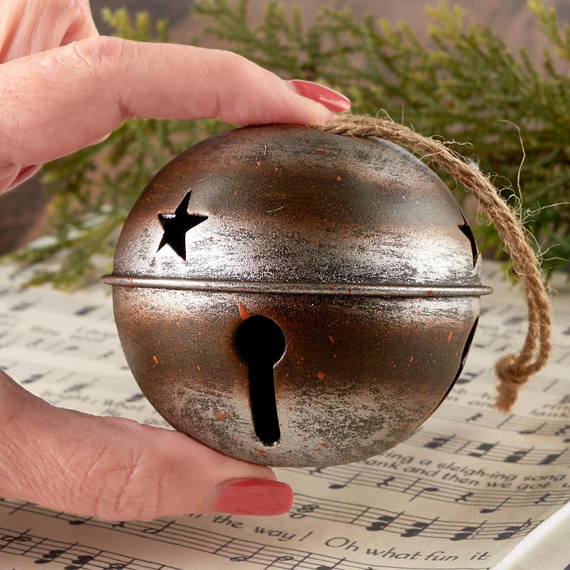 Rustic Jingle Sleigh Bell Ornament - Bells - Basic Craft Supplies - Craft Supplies - Factory ...