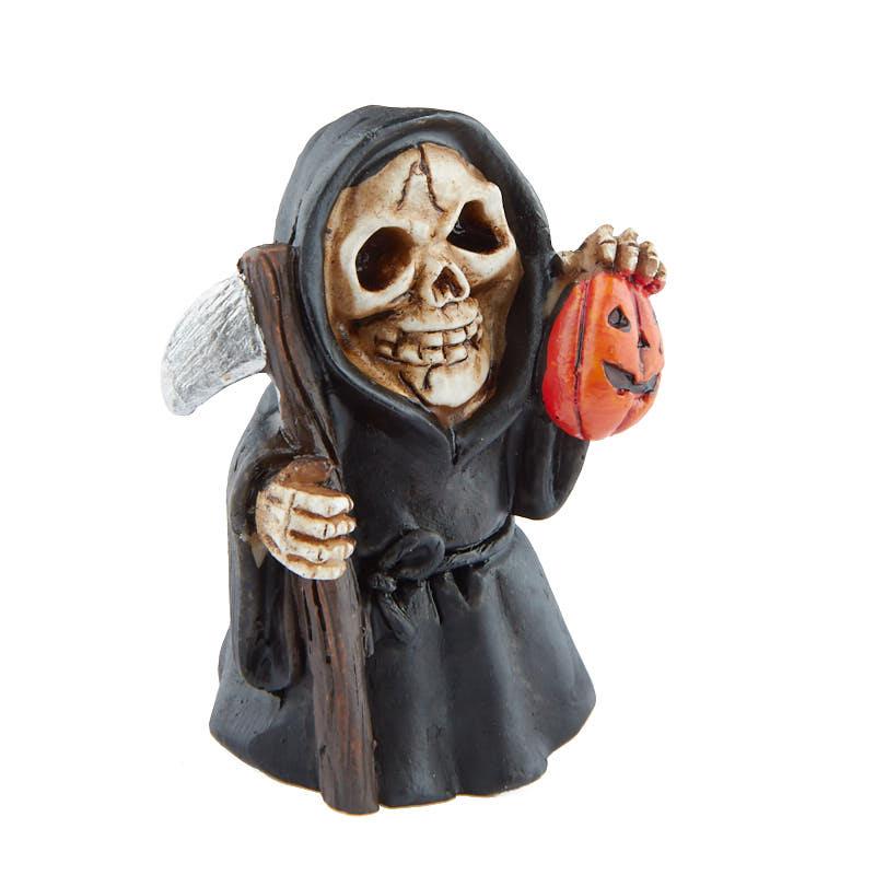Miniature Halloween Grim Reaper Figurine Table Decor