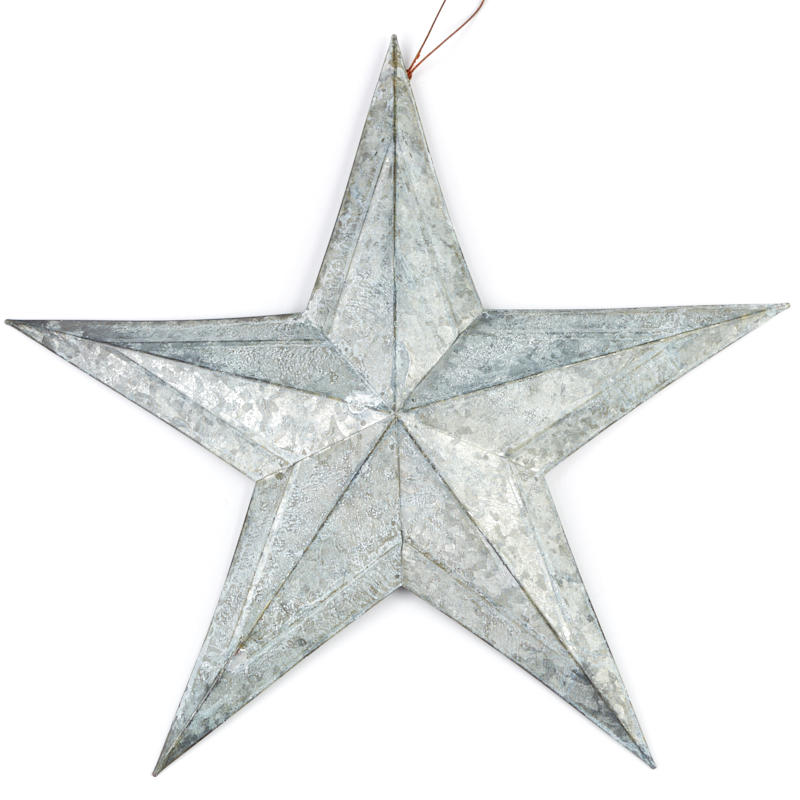 Weathered galvanized barn star wall decor home decor for Barn star decorations home