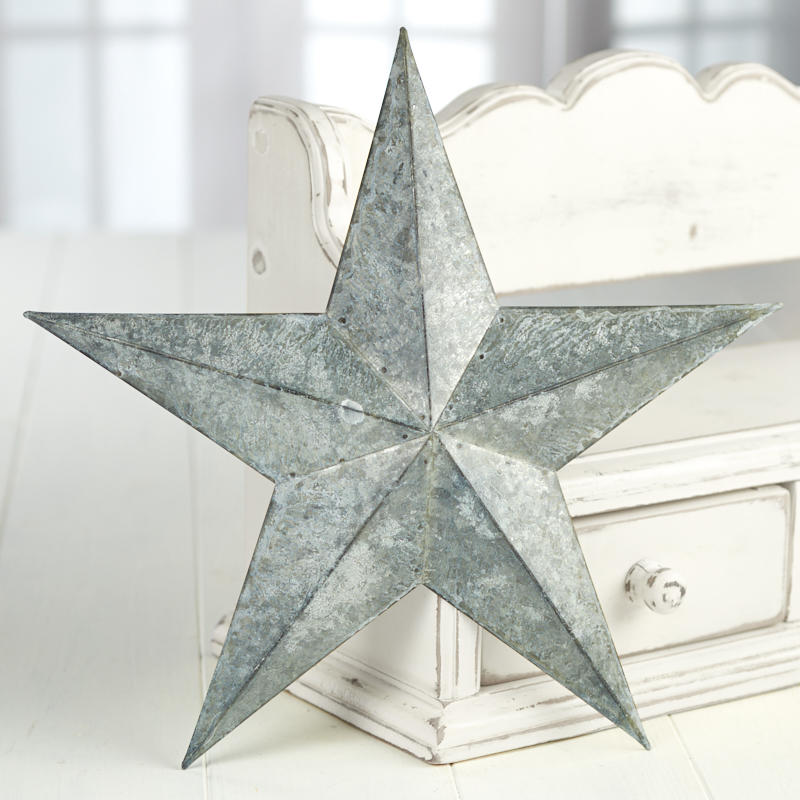 Weathered Galvanized Barn Star - Signs & Ornaments - Home ...