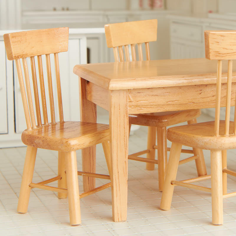 light oak kitchen table dollhouse miniature light oak kitchen table and chair set 7004