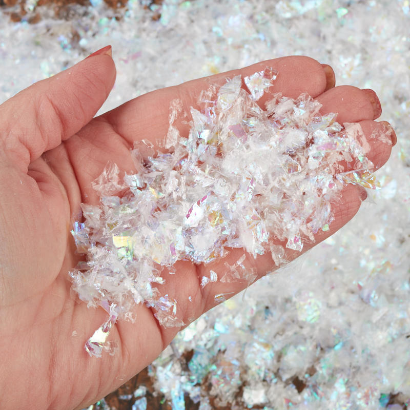 Iridescent artificial snow new items
