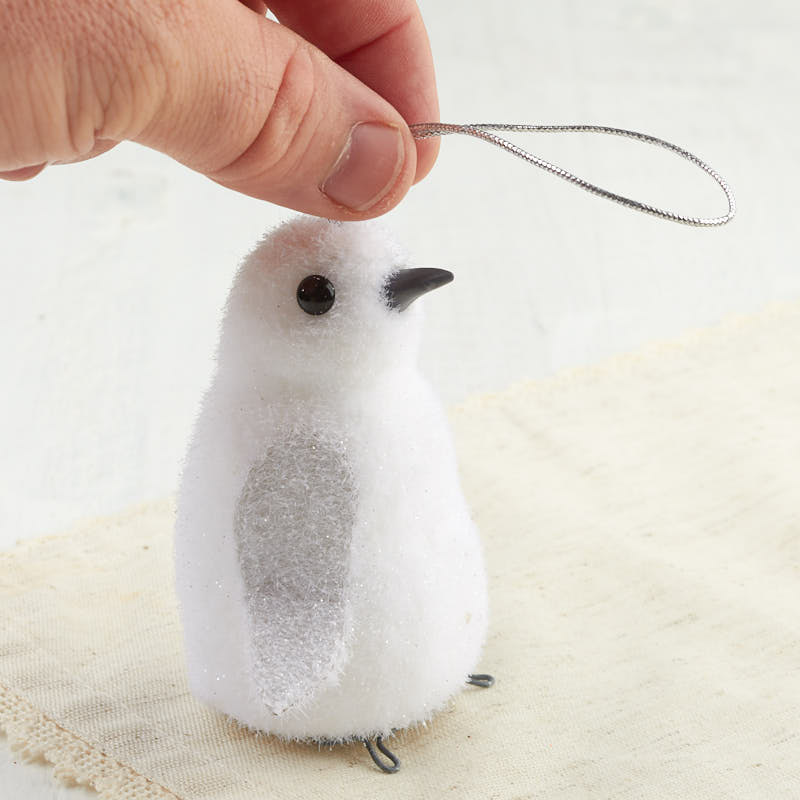White Glittered Baby Penguin Ornament - Christmas ...