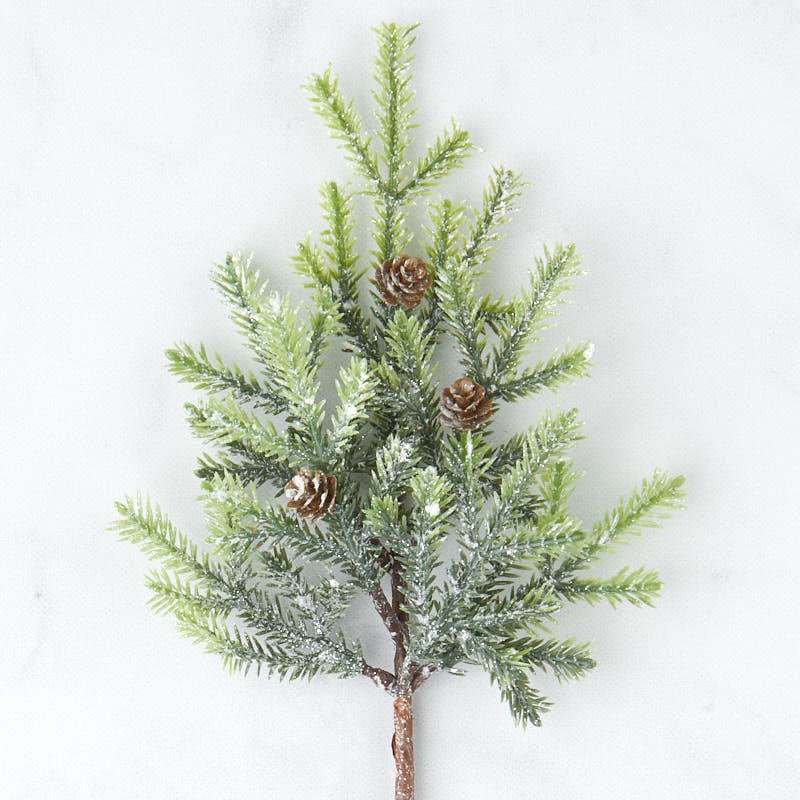 Factory Direct Craft 12 Artificial Cypress Pine Picks for Christmas Decor and Crafting