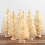 Frosted White Bottle Brush Trees