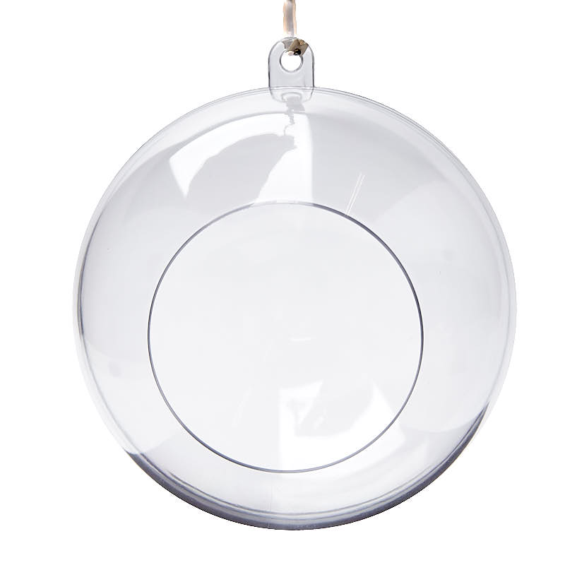 Clear acrylic terrarium ornaments acrylic fillable for Clear plastic balls for crafts