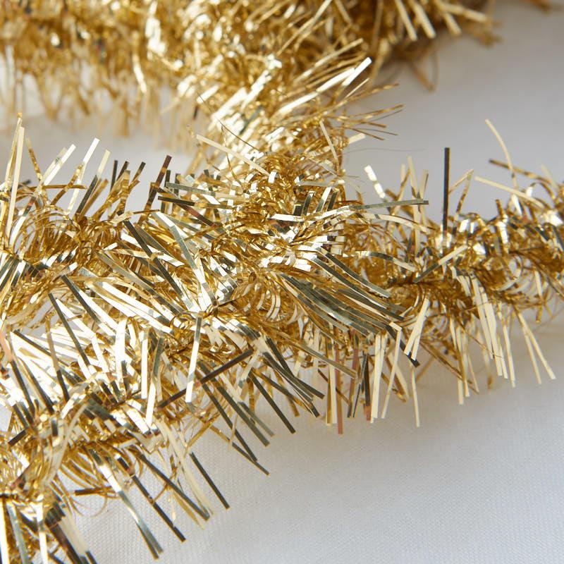 Metallic gold tinsel garland christmas garlands