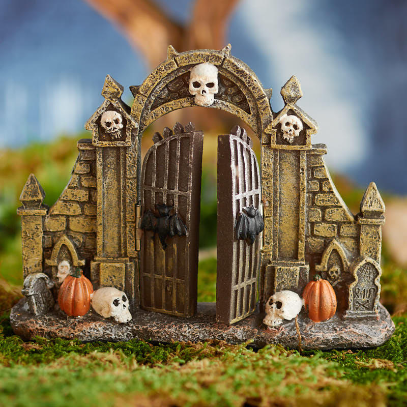 Miniature Haunted Gate Fairy Garden Miniatures