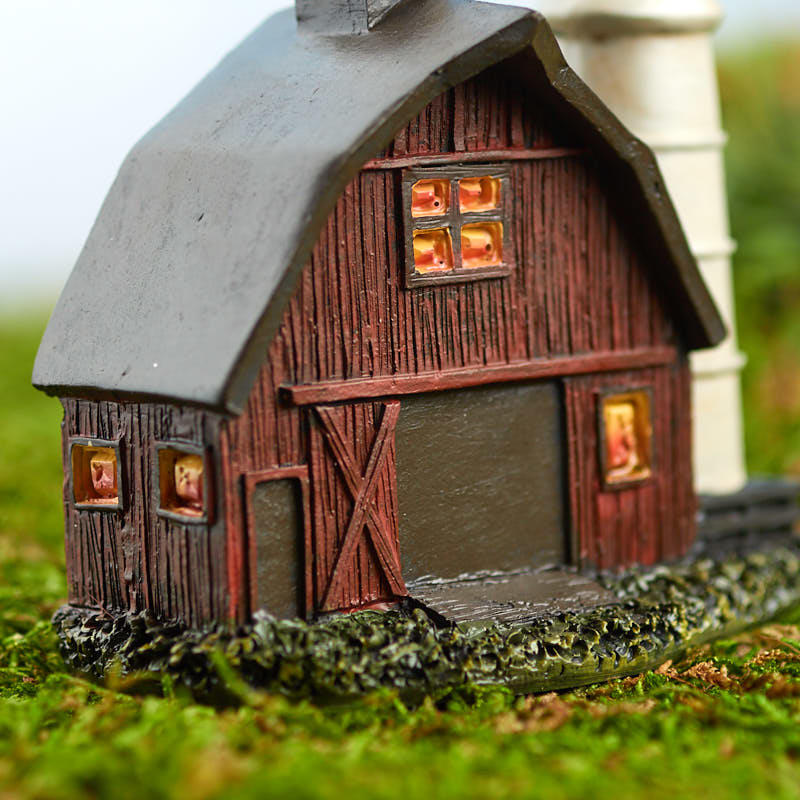Miniature Fairy Garden Barn And Silo Fairy Garden