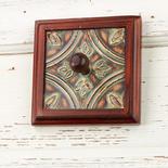 Framed Tile Wall Art Peg