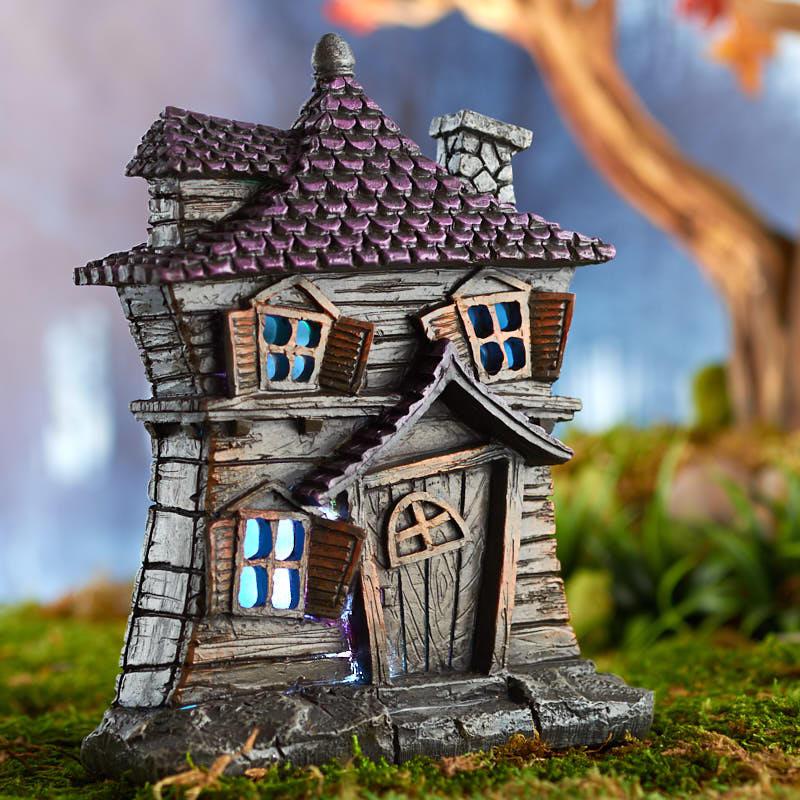 Miniature Light Up Haunted House Fairy Garden Supplies
