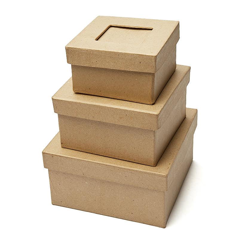 Paper Mache Picture Frame Square Box Set Paper Mache