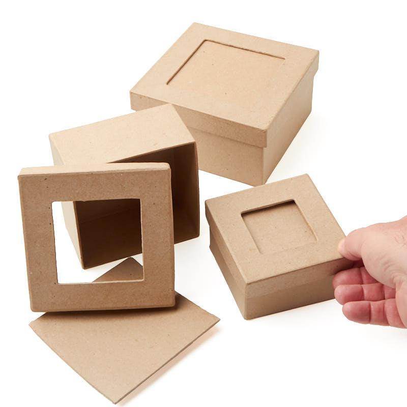 Paper Mache Picture Frame Square Box Set