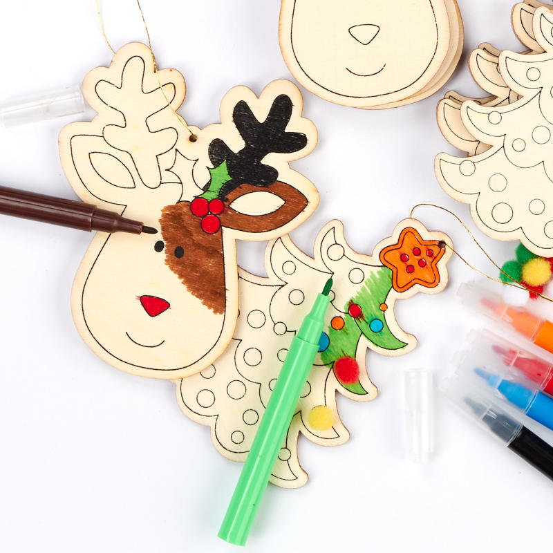 Ready to Decorate Holiday Wood Ornaments Kid's Craft Kit ...