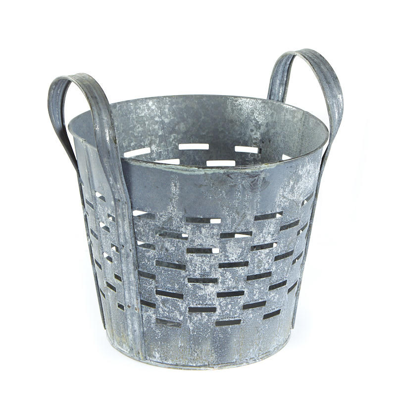 Large galvanized olive bucket floral containers floral for Large galvanized buckets for flowers
