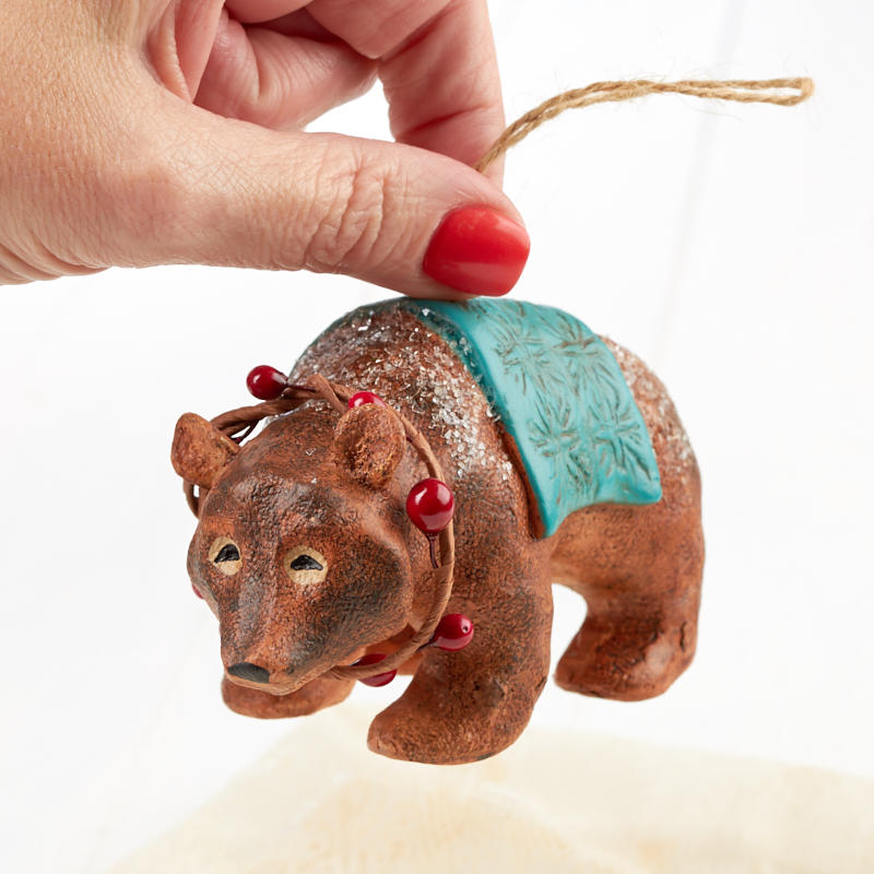 Rustic bear ornament table decor home decor for Rustic bear home decor