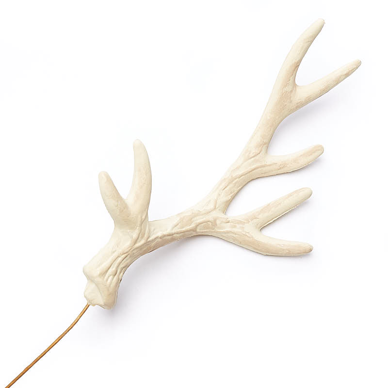 Faux deer antler pick holiday craft supplies christmas for Fake deer antlers for crafts