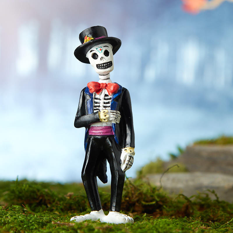 Closeout Dollhouse Miniature Halloween Day Of Dead Groom 17654