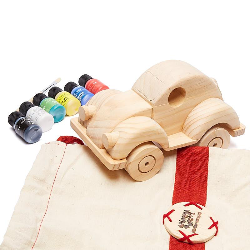 Unfinished Wood Toy Beetle Car Craft Kit