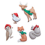 Dress it Up Holiday Woodland Critter Buttons