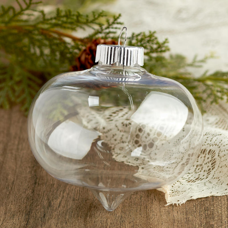 Click Here For A Larger View - Clear Fillable Christmas Ornament - Acrylic Fillable Ornaments