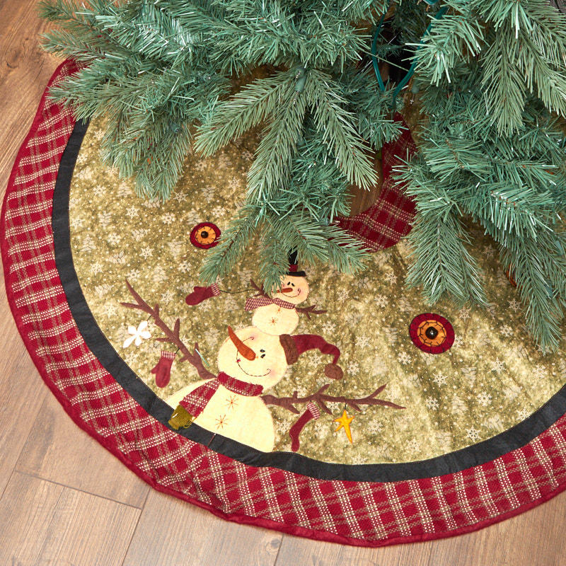 Primitive Christmas Tree.Primitive Christmas Tree Skirt