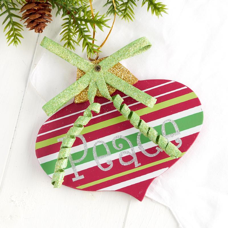 "Oval ""Peace"" Christmas Ornament"