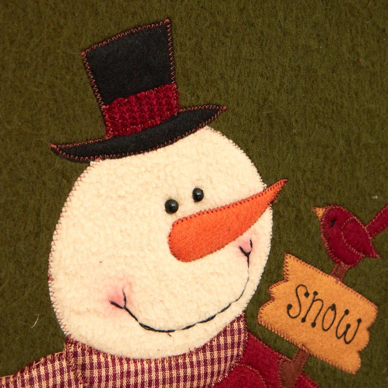 Primitive Framed Fabric Snowman Wall Art - Wall Art - Christmas and ...